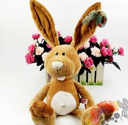 Wholesale Nici Big - tuffed Animals Stuffed Plush Animals Birthday gift 35cm 1pc NICI Counters Genuine Easter Bunny Big Long Ears Rabbit Children Favorite Pl...