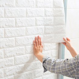 Wholesale Housing Bubble - brick pattern tridimensional Bubble wall stickers,living room or balcony decoration stickers