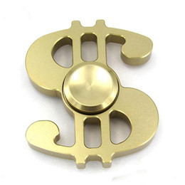 Wholesale Wholesale Sports Signs - New Arrival US Dollar Sign Finger Spinner Fidget Toy Hand Spinner Gadget Alloy Metal Fingertip Gyro Toys For Stress Reliving Free Shipping