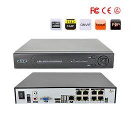 Grabadora de video en red online-8CH POE (Power Over Ethernet) NVR 8 CH Video Recorder de red - Admite hasta 8 cámaras IP POE Admite hasta 5TB HDD (no incluido)