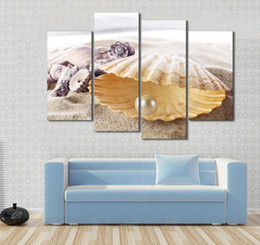 Wholesale Shell Oil Paintings Modern - The US HD Print On Canvas Oil Painting Home Wall Bedroom Deco Art Oil Painting Modern Abstract Oil Painting Poster,Beautiful Sea Shells
