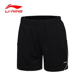 Wholesale Badminton Short Li Ning - Wholesale- Li-Ning Womens Runing Shorts Quick Dry Ladies Breathable Sports Li Ning Badminton tenis Short AAPJ162 Lining Girl Gym Sportswear