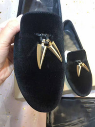 Wholesale Gz Men - High Quality Gz Unisex Men and Women Black Suede Slip On Loafers Flats Casual Shoes High Quality Footwear With Original Packing,Size:35-46