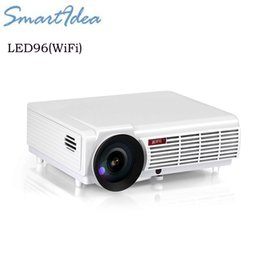 Wholesale Smart 3d Led Hd Tv - Wholesale-5500lumens Android 4.4 WiFi Smart Full HD LED 3D Home Cinema Projector 1280x800 1080P LCD Digital Video HDMI TV Proyector Beamer