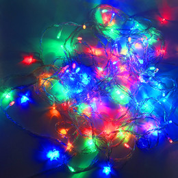 Wholesale christmas led lights outdoors - Christmas light Holiday Sale Outdoor 10m 100 LED string 8 Colors choice Red green RGB Fairy Lights Waterproof Party Christmas Garden light