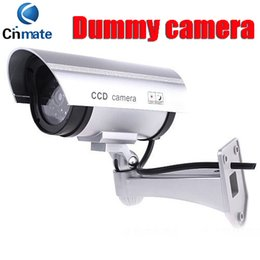 Wholesale Waterproof Fake Cameras - DHL Fake waterproof Surveillance Security Camera Dummy camera Fake Bullet Camera with 30 Illuminating LEDs with LED light flashes CCTV S89