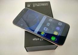 Wholesale Hdc Phone Dual Sim - New HDC Goophone S7 edge Unlocked Dual Sim cell phone Quad Core Android 6.0 1G Ram 4G Rom Show Octa core 64GB ROM Show 4G LTE Smartphone DHL
