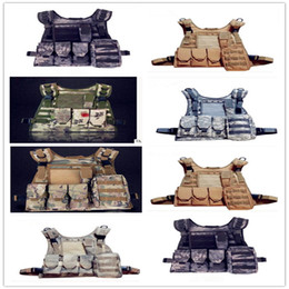 Wholesale Tactical Field Vest - Camouflage amphibious module combat vests the MOLLE system of tactical vest outdoor CS field protection