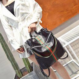 Wholesale Backpacks For Women Travelling - Fashion 2017 Designer Women Backpacks PU Leather For Teenage Girls High Quality Colorful Travel School Bag Soft Brand Black Backpack Women