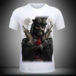 Wholesale Tall White T Shirts - fashion 3D T Shirt Hot 2017 New 3d Printed Cool pirate yeezus T Shirt Mens-6XL KANYE WEST Cotton T-Shirt for tall and big men Free shipping