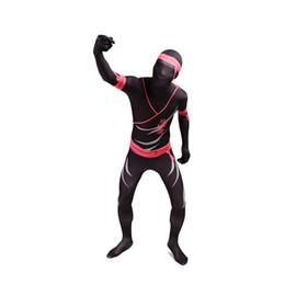 Wholesale Custom Ninja Costume - Ninja Cosplay Costume Halloween Mulitcolor Ninja Copsly Zentai Costumes Lycra Spandex Zentai Bodysuit