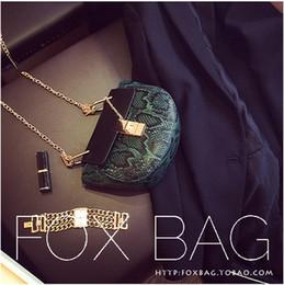 Wholesale Cheap Women Style Messenger Bags - Wholesale- Cheap Chain Crossbody Women Bag Pu Leather Snake PU Clutch Bag Fashion 2016 New Hot Crocodile Female Shoulder Messenger Bag