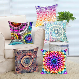 Wholesale Soft Case Zip - Wholesale- Pillow Case Free Shipping Amazing Watercolor Mandala Swirl Stylish Best Pillows Home Soft Throw Pillowcase Square Invisible Zip