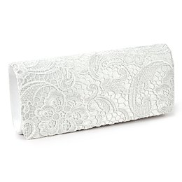Wholesale Wholesale Clutch Frames - Wholesale-SAF- bag Shoulder wallet pouch Lace Floral Style Satchel clutch Fashion for Women Girl White