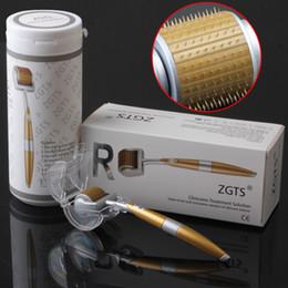 Wholesale Titanium Micro Needle Acne Roller - 2017 dhl free shipping 192 Pins ZGTS Luxury Titanium Micro Needle Derma Roller Meso Roller For Acne Scar Freckle