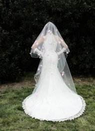 Wholesale Bridel Dresses - Two Layers Tulle Short Bridal Veils 2017 Hot Sale Cheap Wedding Bridal Accessory Bridel Veils For wedding Dresses Wedding Net In Stock