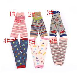 Wholesale Wholesale Knee High Animal Socks - Unisex cartoon Animal leg warmers 2017 Fashion baby girls & boys knee high kids cute Striped Knee Pad socks