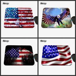 Wholesale American Flag Art - 2017Custom Designed American Eagle Flag Art Design, High Quality Anti-slide Fashion Computer and Laptop Computer Mouse Pad