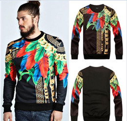 Wholesale Totem Maya - new famous brand men sweatshirts suit casual pullover hoodies novelty print Indian Maya totem sweatshirts suit sport wear