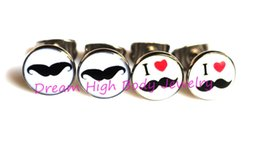 Wholesale Vintage Mustache - Free shipping Vintage Mustache Earrings Fashion Ear rings Statement Jewelry Newest Design Oil Logo 8MM 100PCS LOT 316l STEEL