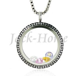 Wholesale Black Enamel Locket - waterproof stainless steel floating charm locket 30mm glass locket pendant with engraving and enamel black color