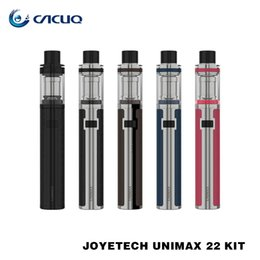 Wholesale Bfl Single - Joyetech UNIMAX 22 Starter Kits e cigs 2200mAh Battery 2ml Capacity Tank Use BFL BFXL Series Heads 100% Original