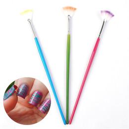 Pregos acrílicos doces on-line-Atacado-1Pc Candy colorido em forma de leque Design Nail AFor pó Glitter UV acrílico Nail Art Manicure Nails ferramentas DIY # 9804