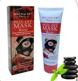Wholesale Rose Mask - 120g gold collagen rose milk cucumber dead sea mud lemon peel off - black mask remove blackheads shrink pores clean and relaxed clean pores