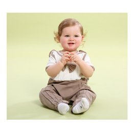 Wholesale Thin Baby Vest - Nature's kiss Baby sleeping bag thin cotton vest 0 to 5 years anti- kicking quilt brown m