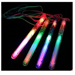 Canada 21cm 7 couleurs changeant LED Light Sticks Clignotant Glow Wand LED Clignotant clignotant pour la discothèque Party Party Wedding Christmas Gift led flashing disco promotion Offre