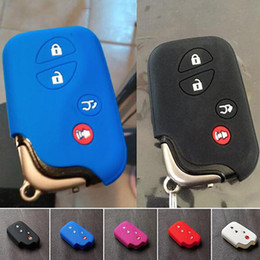 Wholesale Lexus Key Casing - 4 Button Remote Key Case Silicone Cover For LEXUS CT200h ES350 GS350 GS450h GS460 IS IS250 IS350 Car Key Holder