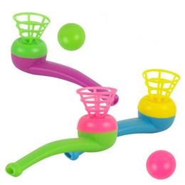 Argentina Blowing Pipe Balls Juego de pelota flotante Regalo de niños Juguetes Niños Puzzle Juguete Fiesta de cumpleaños Favor Suministro