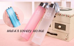 Wholesale Kawaii Water Bottle - Wholesale- lastic water bottle beer style 280ml student cup with BPA FREE rope portable sports kawaii cup korean cute cerveja equipamento