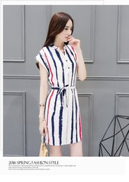 Wholesale Works Bell - A summer dress V neck dress in the buttock skirt of the long - style print to collect the cotton and cotton dress women