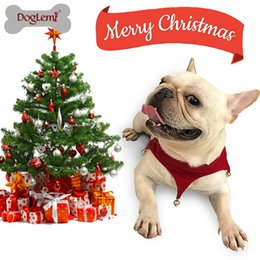 Wholesale Christmas Dog Scarves - Free shipping ! Holiday Gift for Pets Christmas Pet Costume Dog Cat Puppy Jingling Bell Scarf Bandana
