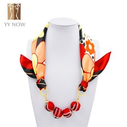 Wholesale Choker Scarf Necklace - Wholesale- Choker Necklace Scarf Women Pendant Accessories Scaeves Clothes Ball Decorative Womem Scarf 2016 New Arrival Fashion Style