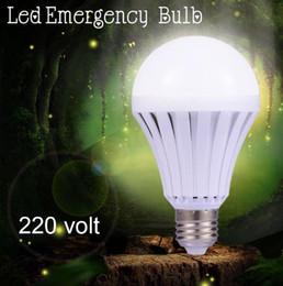 Wholesale Emergency Led E27 - LED E27 5w 7w 9w 12w led night Ball steep emergency rechargeable battery lamp bulb light household indoor lighting