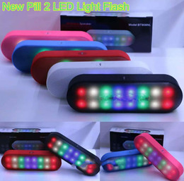 Wholesale Large Plastic Button - BT808NL Pill XL Speaker New Pill 2 large Portable Wireless Bluetooth HIFI Speakers With Pulse LED Liht Flash Bulit-in Mic PK BT808L