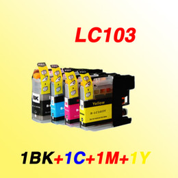 Wholesale Cartridge Chips - 4color 1 set LC103 LC103XL LC 103XL 103 with chip compatible inkjet cartridge Ink cartridges for Brother MFC-J4310DW J4410DW J4510DW printer