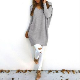 Wholesale Women S Cashmere Sweaters Wholesale - Wholesale- Adogirl Women V Neck Cashmere Long Sweater Fashion Long Sleeve Black White Pink Casual Winter Basic Sweaters Plus Size Tops