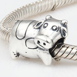 Wholesale cow crafts - Cute Animal 925 Silver Beads Jewelry Making European Craft Beads Milch Cow Fit Charms Sterling Silver Pandora Bracelet Jewelry