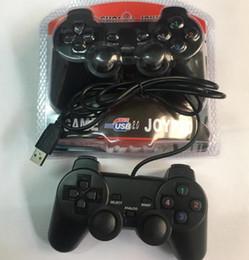 Ps2 pc usb controller on-line-USB Controladores de Jogo Gamepad Joystick PS2 Com Fio Lidar Com Controle de Jogos Único Vibração 208 PC Game Game Controladores # SB03