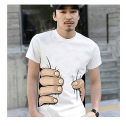 2021 большие футболки оптом Wholesale- Summer Men T Shirt 3D Big Hand T Shirts Men's Clothing O-neck Short Sleeve Men Shirts Tops Tees For Man homme HO668029