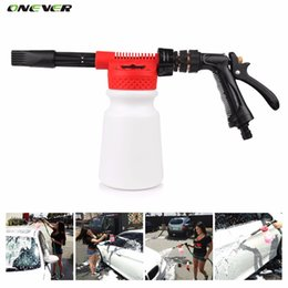 Wholesale Wash Shampoo - Wholesale- Car Washer High Pressure Snow Foamer Water Gun Profession Car Cleaning Foam Gun Washing Foamaster Gun Water Soap Shampoo Sprayer