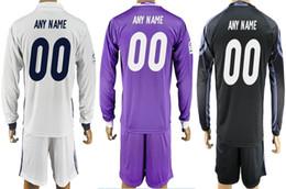 Wholesale Cheap Long Sleeve Soccer Jerseys - New Real Madrid Home away third shirt 2016 2017 mens Thai quality long sleeve soccer jerseys all logos cheap football club set customized