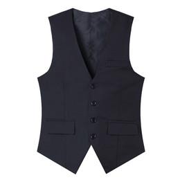 Wholesale Chaleco Slim Fit - Wholesale- High quality 2016 new men suit vest slim fit solid men waistcoat chaleco hombre single breasted dress vests for men M-3XL CH953