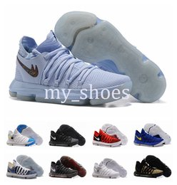 Wholesale Bird Cushions - 2017 New Arrival KD 10 X Oreo Bird of Para Basketball Shoes for High quality Kevin Durant 10s Bounce Airs Cushion Sports Shoes