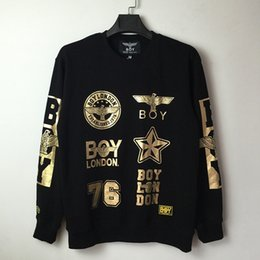 Wholesale London Hoodie - 2017 New Women Men boy london loose Long SLeeve Punk eagle printed Hoodies Hip Hop BTS Sweatshirts Galaxy Clothes Pullover Tops