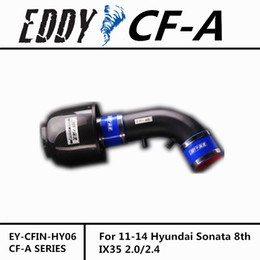 Wholesale Cold Air Intake Systems - Fit For Hyundai Sonata 8th IX35 2.0 2.4 Fine Quality Racing Brand EDDYSTAR EDDY Carbon Fiber Cold Air Intake System