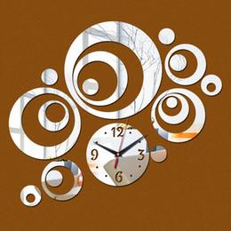 Canada Gros- 2016 quartz acrylique miroir nouvelle horloge murale montre Salon 3d home decor horloges moderne reloj de pared horloge livraison gratuite cheap wall clock decor mirrors Offre
